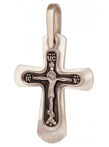 Крест с перламутровой подвеской