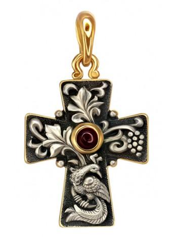 Православный крест серебро с золочением
