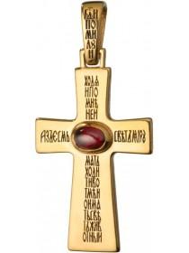 Крест большой с кабошоном