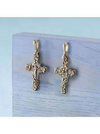 """Православный крест """"Лоза"""" из золота"""