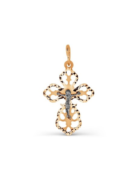 Крест нательный из красного золота
