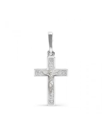 Крест нательный из белого золота