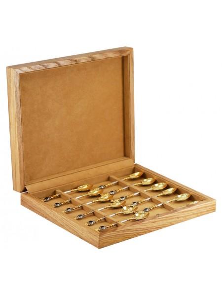 Набор из 12 ложек с камнем